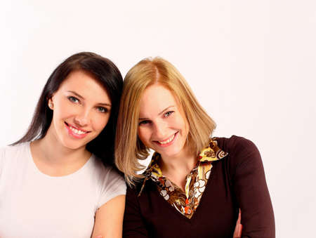 Two young women smiling photo