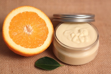 cosmetic cream: Homemade body butter Stock Photo