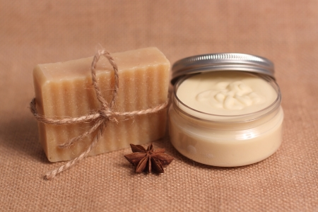 Homemade soap and body butter Stockfoto