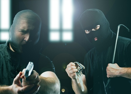 hidden danger: Two masked burglars