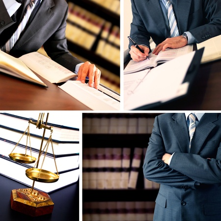 legal law: Businessman working