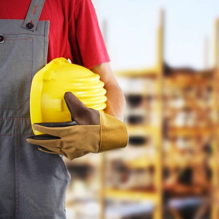 no person: Construction worker, protection equipment Stock Photo