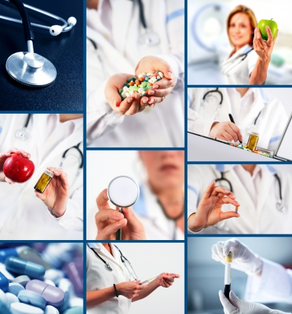 Collection of medical images photo
