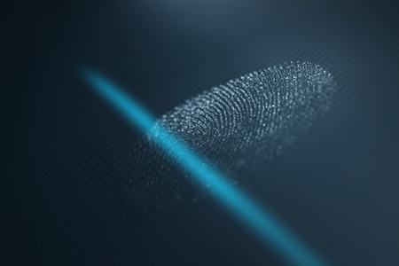 Fingerprint scanner. Fingerprint identification