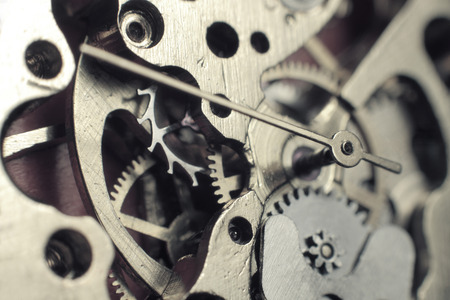 Horloge mechanisme macro Stockfoto