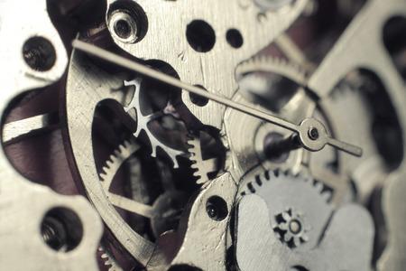 engranajes: Mecanismo del reloj macro