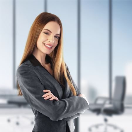 Office women: Portrait of a young businesswoman in her office