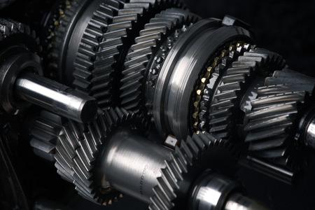 maquinaria: la caja de cambios de transmisión automotriz Foto de archivo