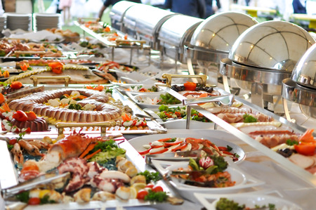 banquet table: Catering food Stock Photo