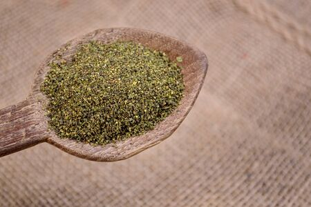 complementary therapies: Nettle seeds Stock Photo