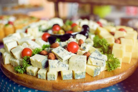 stilton: Blue cheese and catering food