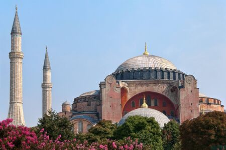Haghia - Aya Sophia - famous church and mosque in Istanbul