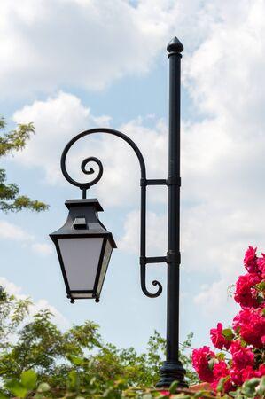 Streetlamp in Old Plovdiv, Bulgaria, Eastern Europe