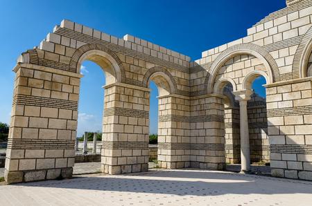 The Great Basilica in Pliska, Bulgaria Stock Photo