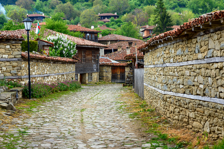 Zheravna, Bulgaria - architectural reserve of rustic houses and narrow cobbled streets from the Bulgarian national revival period