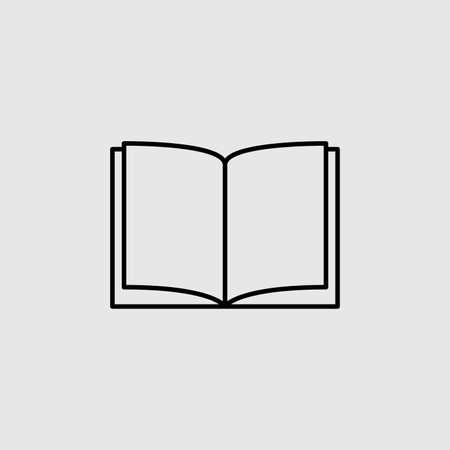 Icône de vecteur de livre. Signe plat doublé pour le concept mobile et la conception Web. Icône de glyphe de livre ouvert. Symbole, illustration. Graphiques vectoriels