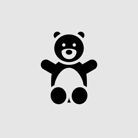 Teddy bear vector icon. Filled flat sign for mobile concept and web design. Teddy bear glyph icon. Symbol,  illustration. Vector graphics