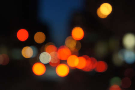 city lights: blurred lights