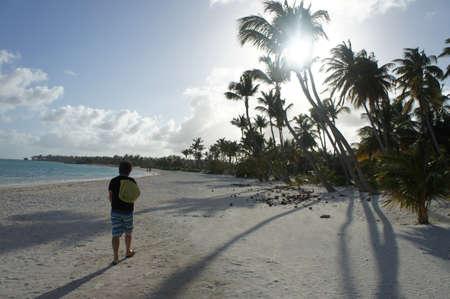 beach walk Stock Photo
