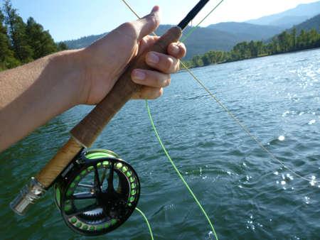 fly fishing Stock Photo - 12356377