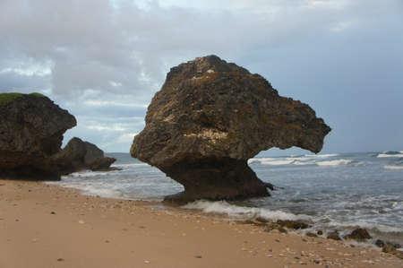 mushroom rock Stock Photo