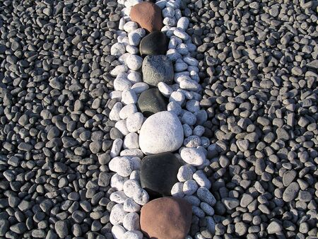 A rock display with rocks of various sizes and colours. Stock Photo - 1815470