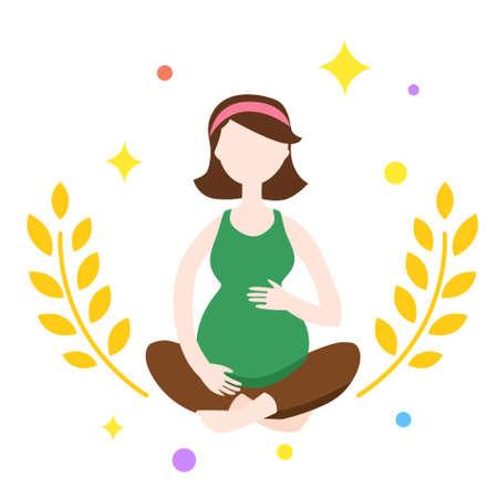 Cartoon pregnant women