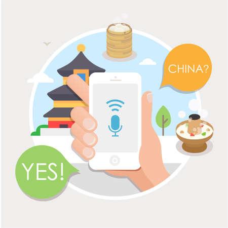 Mobile navigation series Illustration