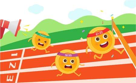 Gold coin race