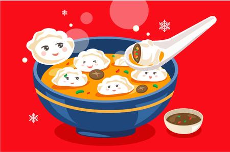 Cena cinese di Capodanno Archivio Fotografico - 87807348