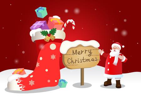 Christmas illustration background Illustration