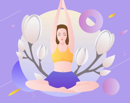 Yoga exercise Ilustração