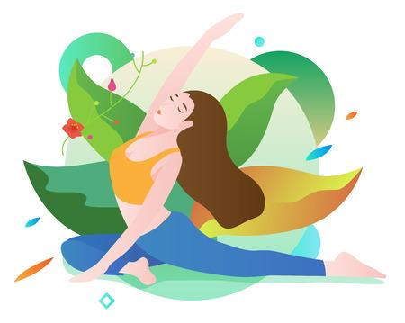 Yoga exercise Vectores