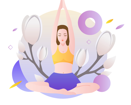 Yoga exercise Imagens - 91002894