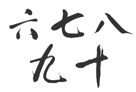 Digital brush Chinese characters