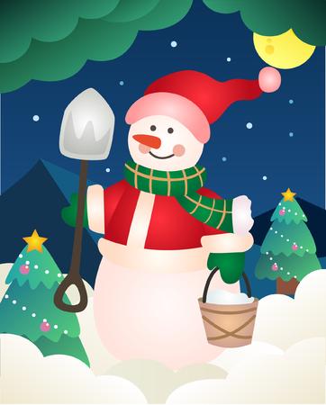 Christmas illustration background Illustration