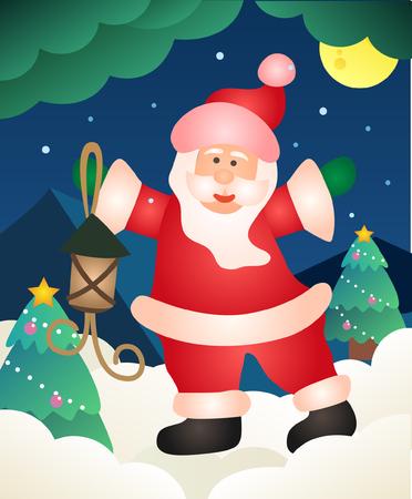 Christmas illustration background Archivio Fotografico - 107427542
