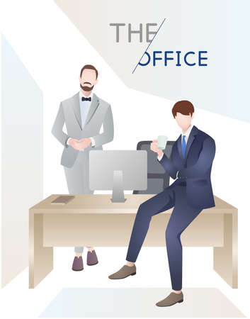 Office white collar people vector material