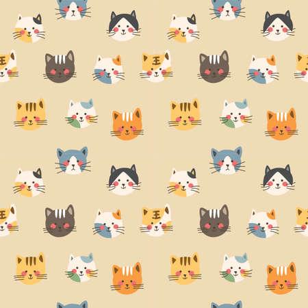 Cat avatar seamless background