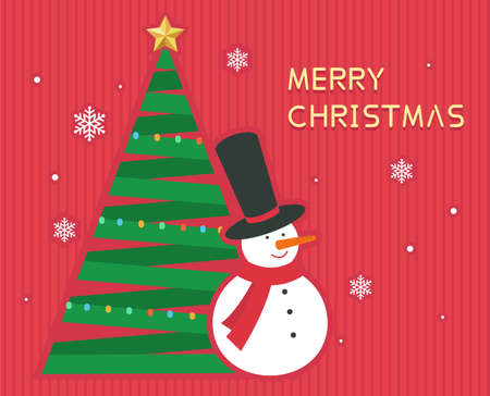 Christmas greeting card banner vector background