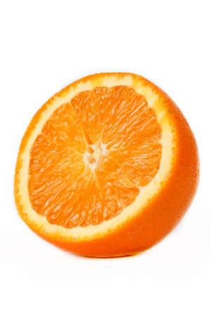 ripe juicy orange on a white background
