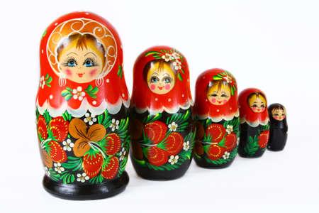 souvenir dolls dolls on a white background