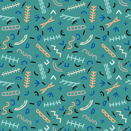 Pattern figures vector illustration texture background Illustration
