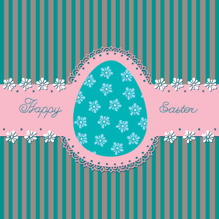 Openwork belt with Easter eggs in the background  Postcard  Stock Vector - 12872842
