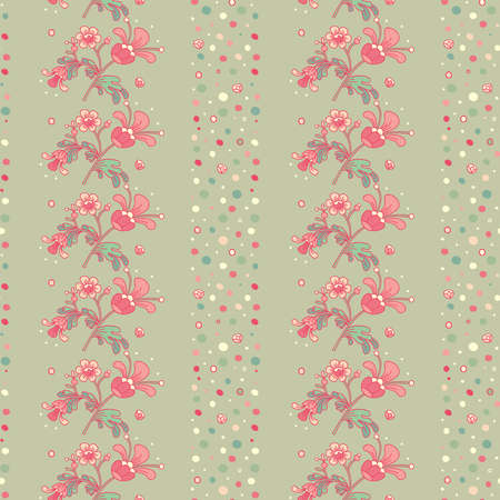 Floral background with decorative flowers and abstract elements
