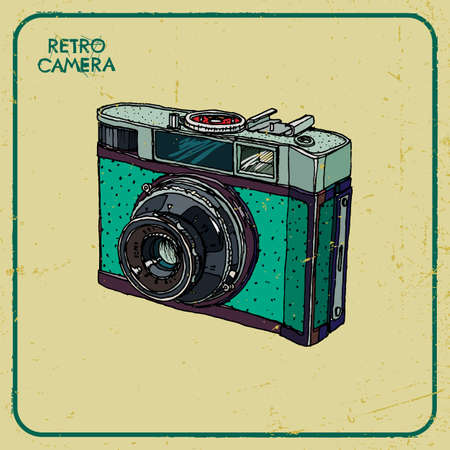 illustration of an retro camera