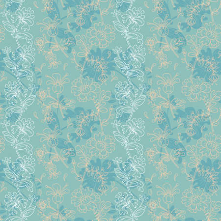 Floral background with decorative flowers