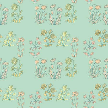 ébredés: Zökkenőmentes virágmintás különböző virágok
