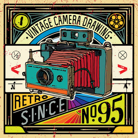 Vector illustration of an retro camera.