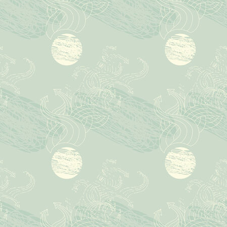 Seamless pattern with twisted arrows pointing in different directions